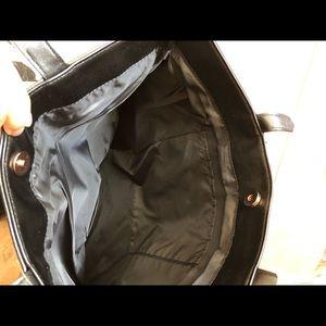 Victoria's Secret Bags - Victoria's Secret Black Fringe Bag Tote/NWT
